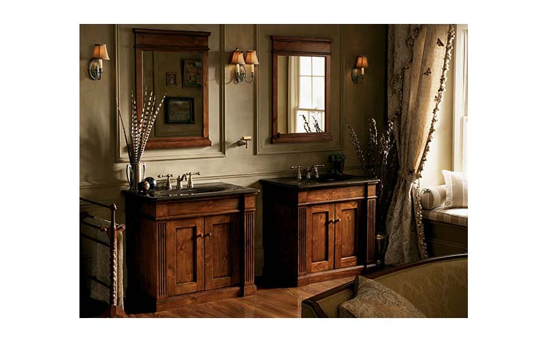 Antique traditional bathroom vanities