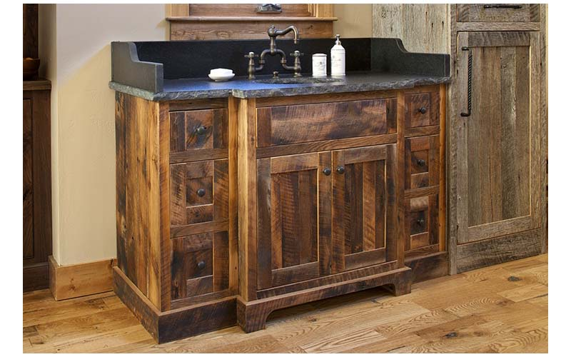 Barn wood bathroom vanities