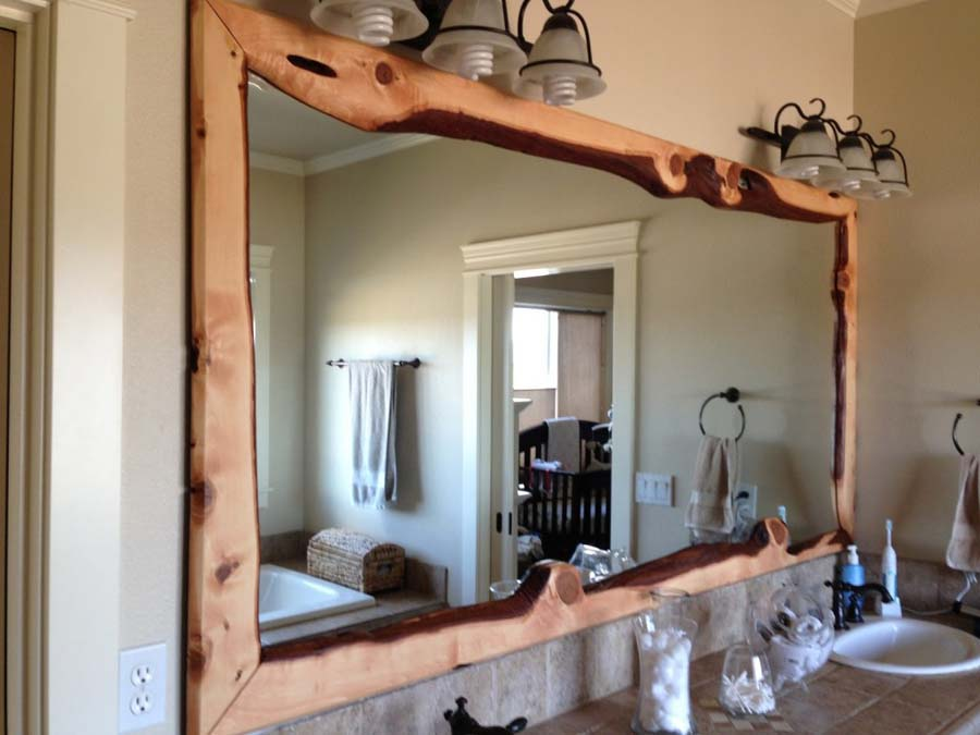 Bath vanity mirrors framed