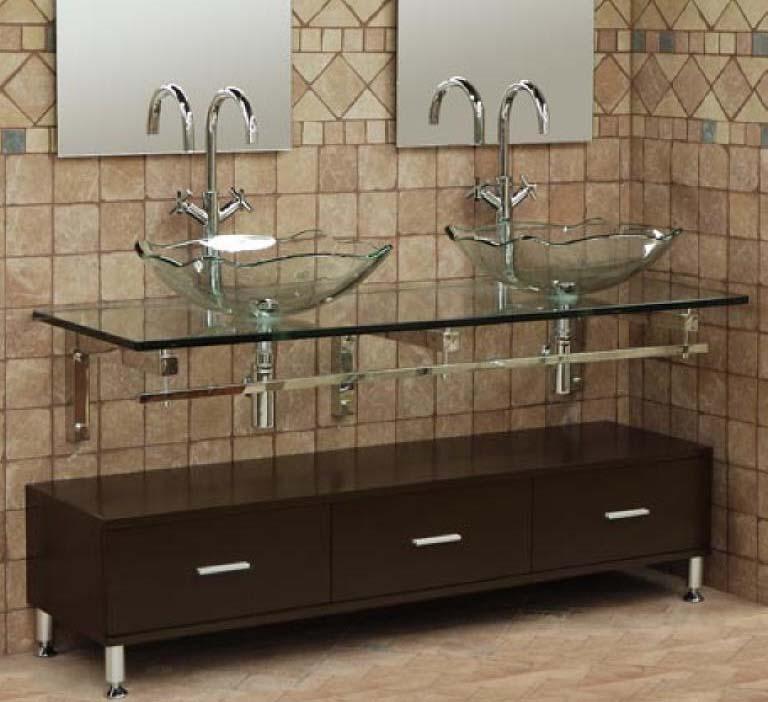 Bath vanity tops double sink