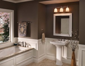 Bathroom mirrors and vanity lights