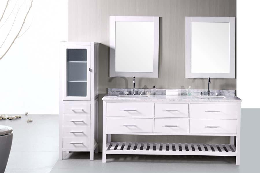 Bathroom vanities 72 inches double sink
