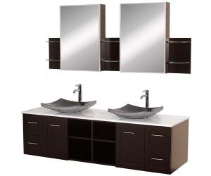 Bathroom vanities with tops double sink