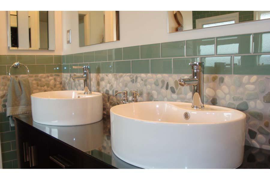 Bathroom vanity backsplash tile ideas