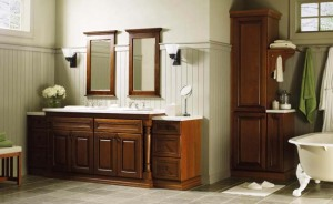 Bathroom vanity cabinets with sinks
