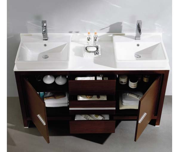 Bathroom vanity double sink 60 inches