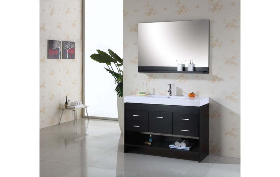 Bathroom vanity single sink