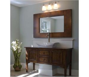 Bathroom vanity sink mirror combo