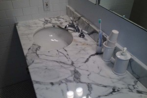 Bathroom vanity top refinishing