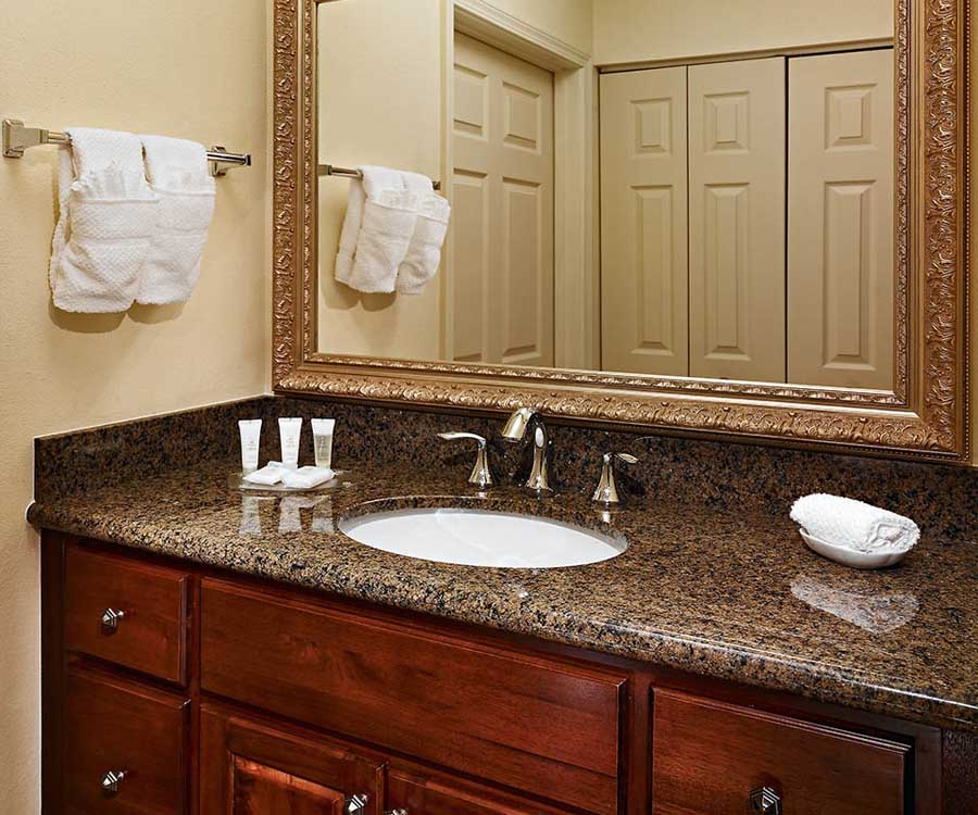 Bathroom vanity with granite top