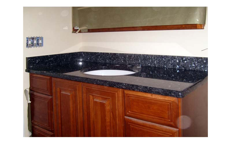 Bathroom vanity with granite