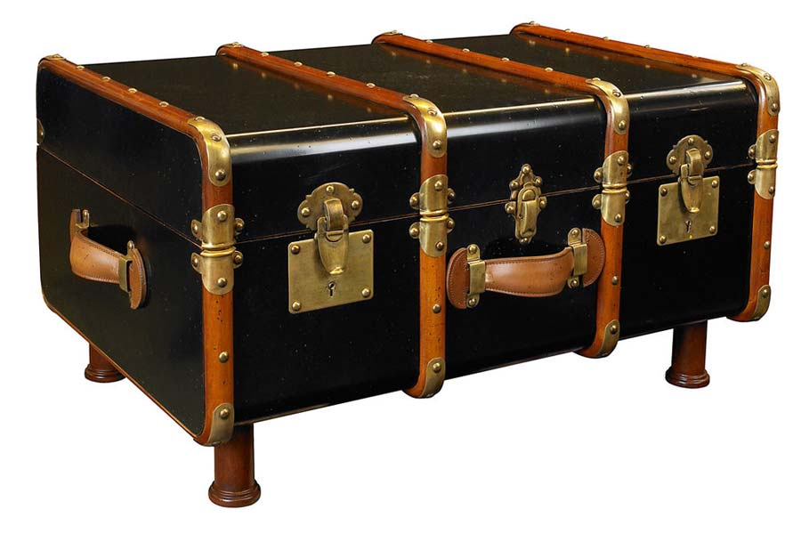 Black Steamer Trunk Coffee Table2