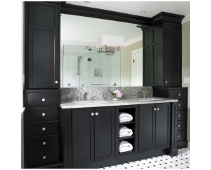 Black bathroom vanity cabinet