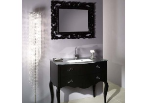 Black bathroom vanity mirror