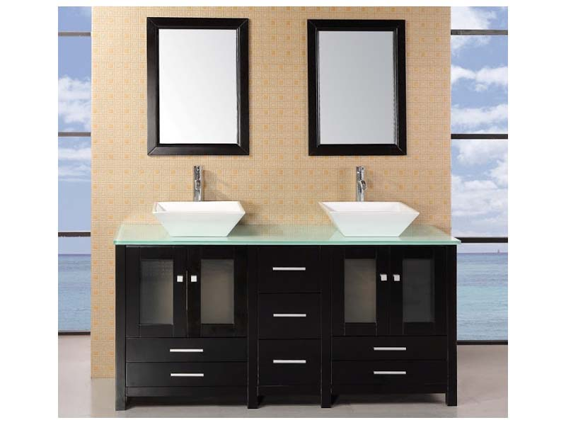 Black Bathroom Vanities  With Vessel Sink