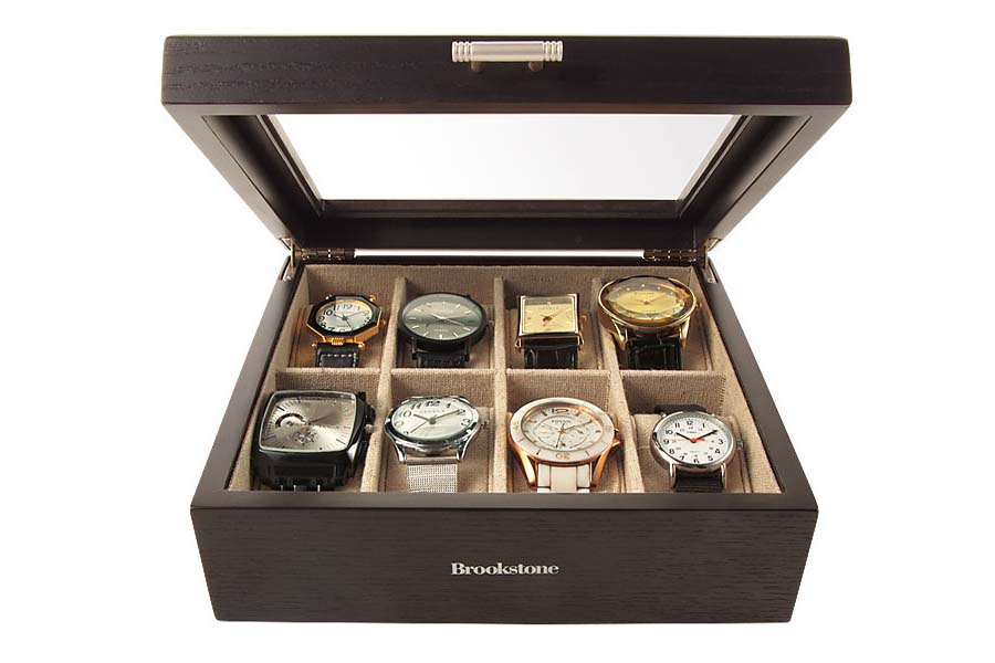 Brookstone personalized watch box
