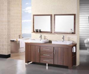 Cheap bathroom double vanity sets