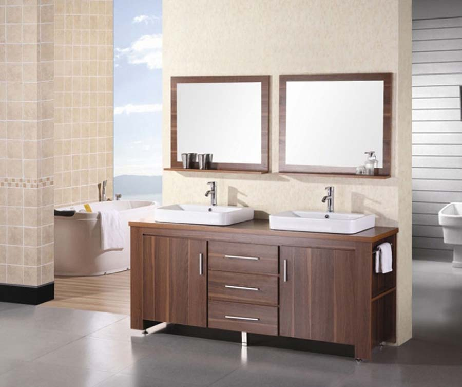 Cheap bathroom double vanity sets