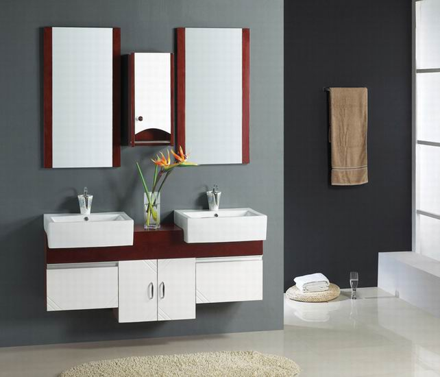 Cheap bathroom vanities double sink