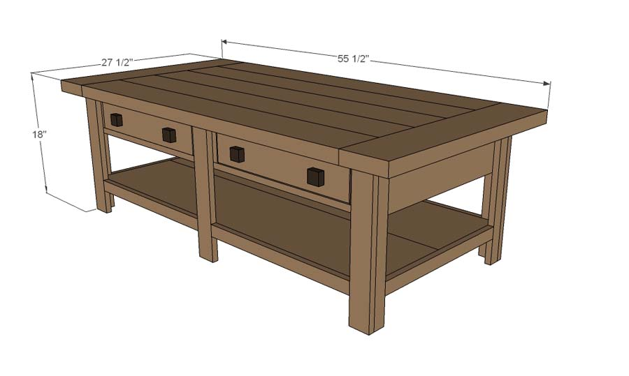 Coffee table building plans