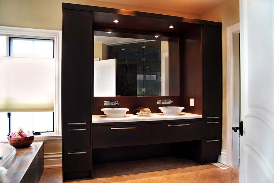 Contemporary bathroom cabinets vanities