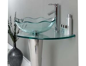 Contemporary bathroom vanities with vessel sinks