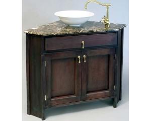 Corner bath sink vanity