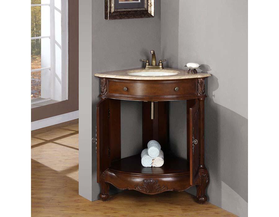 Corner bath vanity units