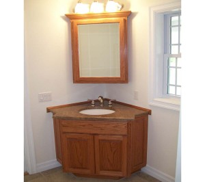 Corner bathroom vanity units