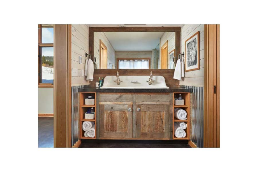 Country Double Sink Bathroom Vanities