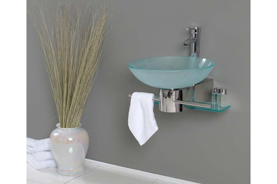 Floating bathroom vanity units
