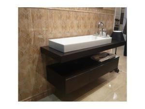 Floating shelf bathroom vanity