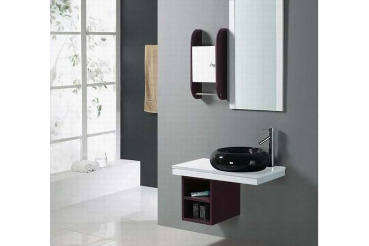 Floating vanity for small bathroom