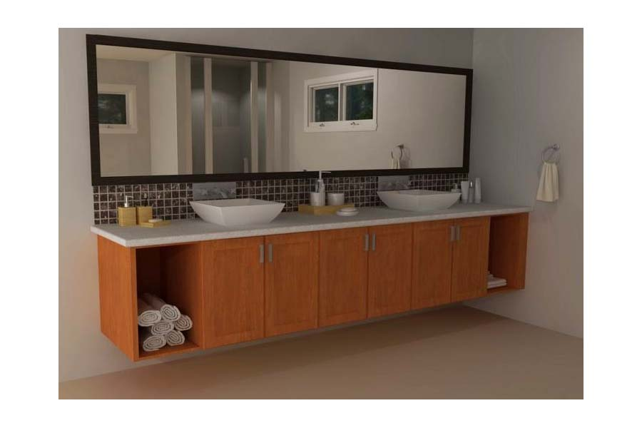 Ikea floating bathroom vanity using kitchen cabinets couch sofa ideas interior design for Floating bathroom vanity ikea
