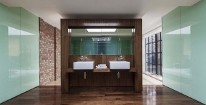 Luxury bathroom double vanities