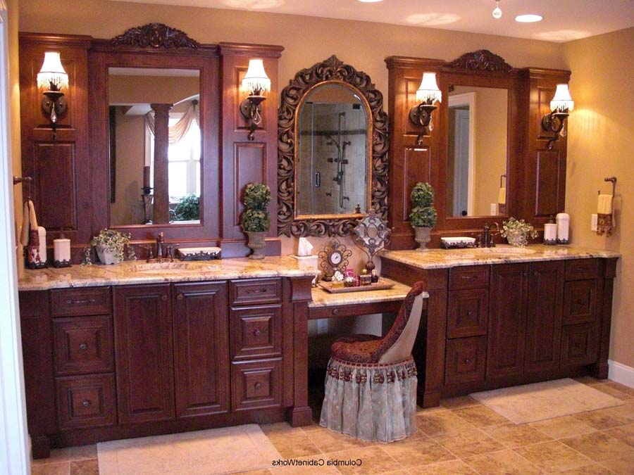 Luxury double sink bathroom vanities