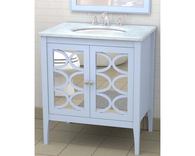 Mirrored bathroom vanity 24 inch