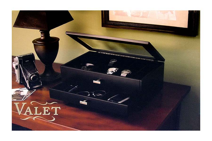 Personalized mens watch jewelry box