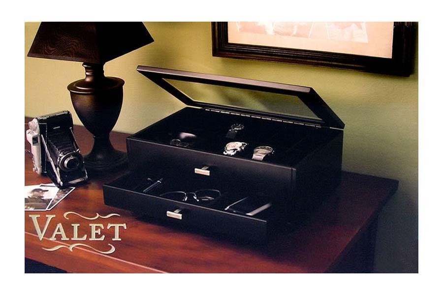 Personalized mens watch jewelry box