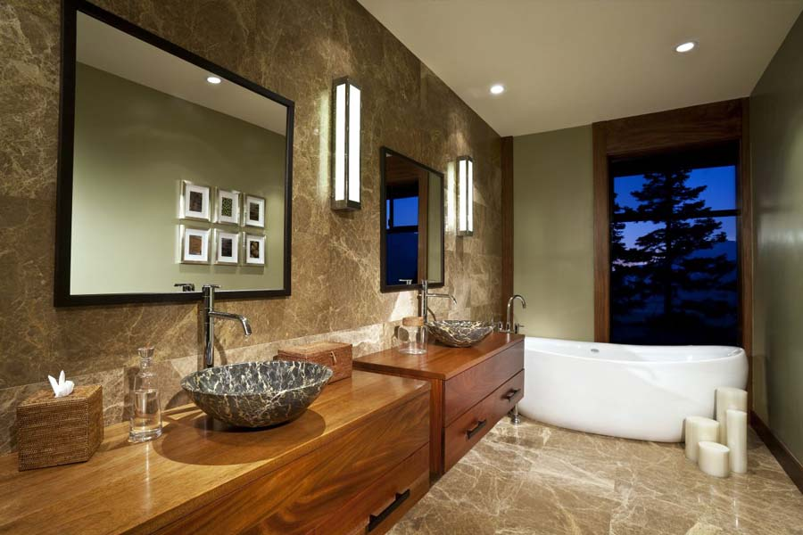 Real wood bathroom vanities