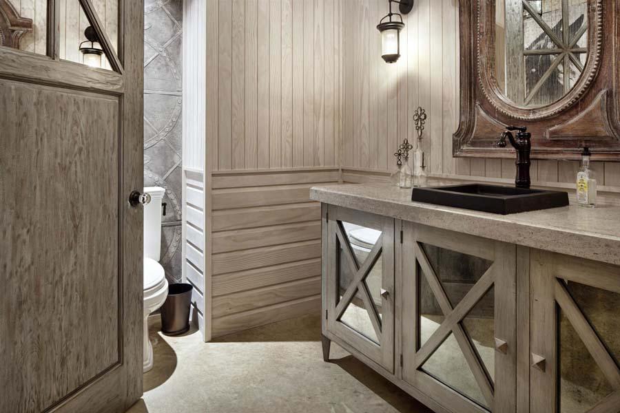 Rustic wood bathroom vanities