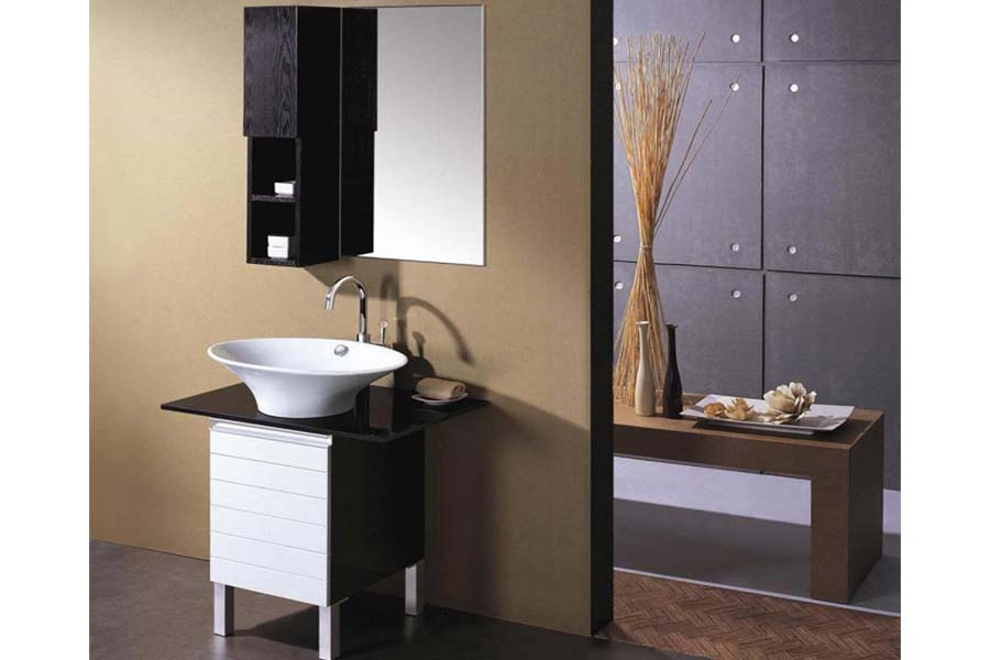 Small bathroom vanities home depot