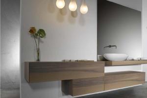 Solid wood bathroom vanity units