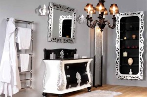 Vintage bathroom vanity cabinet