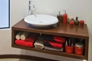 Wall mount bathroom vanities vessel sink