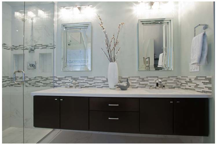 Wall mounted floating bathroom vanity