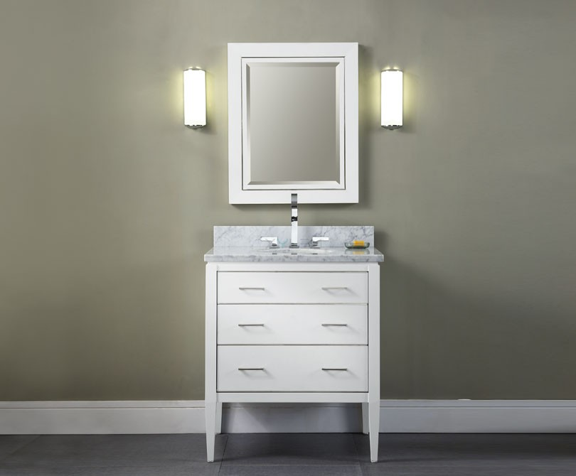White bathroom vanity 30 inch