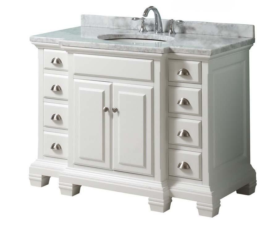 White bathroom vanity 36 inch