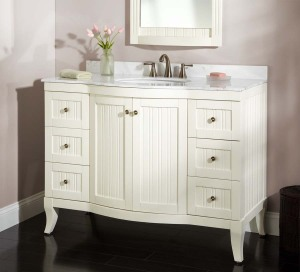 White bathroom vanity 48 inch