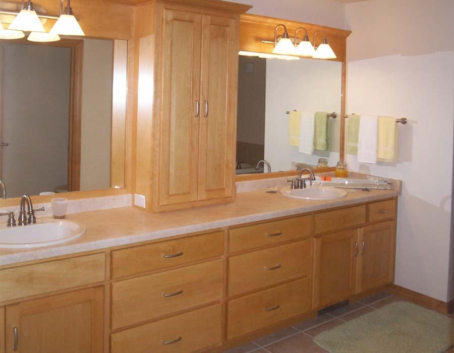 Wood bathroom vanities cabinets